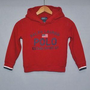 Polo Ralph Lauren Sweatshirt Logo Hoodie Size 5